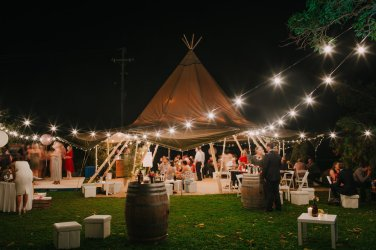 Rustic teepee wedding