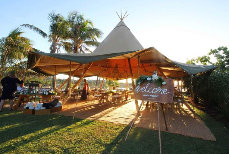 sailing club teepee wedding